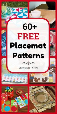 Placemat Patterns, Placemat Diy: Over 60 Free Placemat (Place mat) sewing patterns, tutorials, and diy projects. Many quilted designs, many simple and easy designs. #SewingSupport #Placemat #Pattern, #Diy #SewingPatterns #SewingProjects