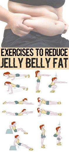 Simple Exercises to Reduce Jelly Belly Fat..