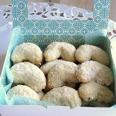"""Polish rogaliki mean """"little horns"""" because of their shape. There are many versions -- some recipes require rolling the dough and cutting it into triangles, adding a dollop of filling and rolling, like Jewish rugelach. This recipe is for a hand-formed coo"""