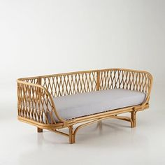 Sofa Couch Kanapee Polstermöbel Lounge Liege Rattan Tagesbett Relaxliege Sessel - All About Rattan Couch, Rattan Garden Corner Sofa, Rattan Dining Chairs, Rattan Garden Furniture, Cane Furniture, Bamboo Furniture, Upholstered Furniture, Furniture Decor, Beach Cottages