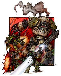 Warhammer artwork — Battle by Vasiliy Loginov Warhammer 40k Memes, Warhammer Art, Warhammer Models, Warhammer Fantasy, Warhammer 40000, Mass Effect Universe, The Horus Heresy, Game Workshop, Space Marine