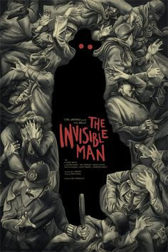 """""""The Invisible Man,"""" by Jonathan Burton. Cool New Mondo Posters for Classic Universal Monster Movies – Page 6 – Flavorwire Book Cover Art, Book Cover Illustration, Poster Art, Art, Invisible Man, Book Design, Monster Art, Mondo Posters, Movie Poster Art"""