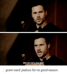 "Grant Ward: Who the hell is that guy?! #Marvel Agents of S.H.I.E.L.D. #AoS #AgentsofSHIELD 2x18 ""The Frenemy of My Enemy"""