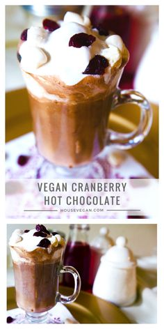 I could go for a mug of Hannah's delicious cranberry cocoa right now! Vegan Hot Chocolate, Christmas Hot Chocolate, Vegan Christmas, Hot Chocolate Recipes, Christmas Drinks, Christmas Ideas, Cranberry Recipes, Holiday Recipes, Hot Cocoa Mixes