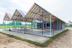 H&P architects constructs colorful re-ainbow community center