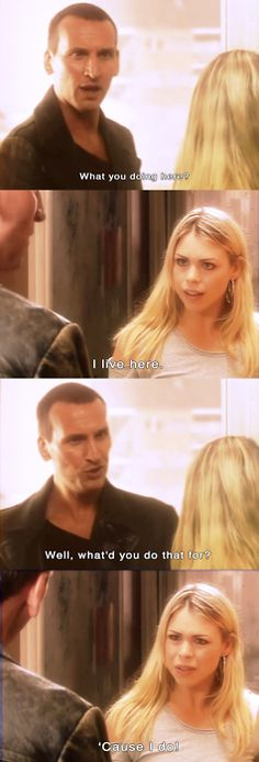 Nine and Rose.  I laughed at the fact that he questioned why she lived there- and her response was perfect.  This really set the tone for their future.  She wasn't afraid to stand up to him, and he was just as stubborn.