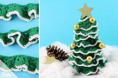 Home Crafts Crochet Christmas tree crochet - Instructions for a crocheted Christmas tree Crochet Christmas Trees, Christmas Crochet Patterns, Christmas Cross, Christmas 2017, Christmas Tree Ornaments, Xmas, Home Crafts, Diy And Crafts, Mug Rug Patterns