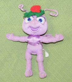 "1998 Bugs Life DOT 12"" Vintage Purple Plush Ant Doll Disney Arcotoys Mattel Toy #DisneyMattel"