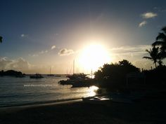Watching the sunset while sitting at Saona cafe, enjoying a nice drink or early dinner