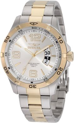 Invicta Men's 0086 Invicta II Silver Dial Two Tone Stainless Steel Watch >>> Click image to review more details.