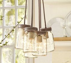 Exeter 5-Jar Pendant #potterybarn    over island