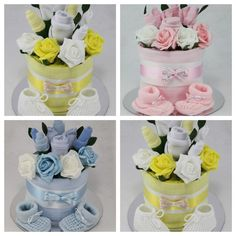 Twin baby girl nappy cake baby shower gift uk diaper cakes baby boy girl unisex clothes flower bouquet nappy cake new born shower gift in baby maternitypregnancy baby showers ebay negle Image collections