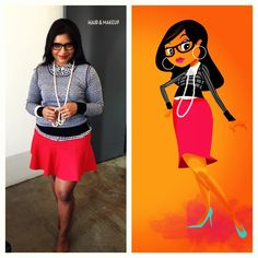 Mindy Kaling's avatar's style is even cute! [more at pinterest.com/eventsbygab]