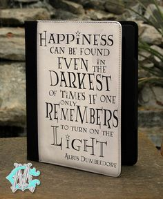 """Universal 7"""" inch Tablet Case - Harry Potter Albus Dumbledore Happiness Quote"""