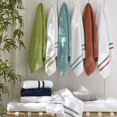 Gracious Style specializes in high end furnishings for your home, including fine linens, luxury dinnerware, and special gifts. Striped Towels, White Towels, Bath Linens, Bath Rugs, Bathroom Towels, Bath Towels, Monogram Towels, Bath Towel Sets, Stripes Fashion