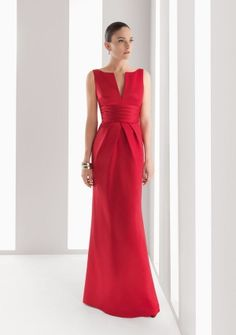 Sheath/ Column V-neck Notched Neckline Floor-length in Satin Cocktail Dress