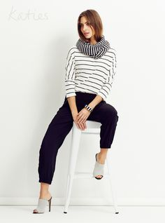 MIX AND MATCH / There's no wrong way to wear stripes, so go ahead and double up! Pair mis-matching stripes for a fresh and chic take on a classic trend. Mix N Match, Fashion Accessories, Normcore, Stripes, Fresh, Tie, Blouse, Classic, How To Wear