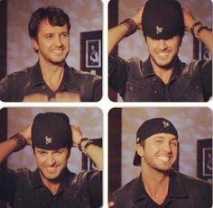 Luke Bryan and his hat :))