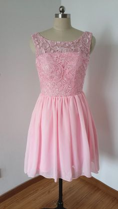 Prom Dresses For Teens, Charming Prom Dress,Chiffon Prom Dress,Short Prom Dress with Lace,Pink Prom Dress Dresses Modest Pageant Dresses For Teens, Lace Homecoming Dresses, Lace Evening Dresses, Cheap Prom Dresses, Graduation Dresses, Party Dresses, Dama Dresses, Prom Gowns, Dress Party