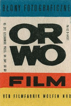 ORWO manufacturer of film and photographic film from Wolfen, Germany