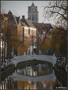 Venetiaanse brug, geschonken aan Delft door een dankbare inwoner van Venetië, die de fijne kneepjes van het bierbrouwen van een Delftenaar had geleerd.