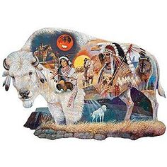 Legend Of The White Buffalo - 750 Piece Shaped Jigsaw Puzzle