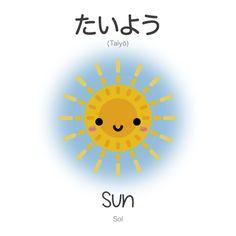 たいよう | Taiyō | Sun | Sol The kanji for sun is 太陽 when it refers to the sun as a body in the solar system.