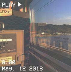 M O O N V E I N S 1 0 1 #vhs #aesthetic #bus #train #sun #journey