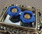 Forminha Botão Flor : Azul Royal RE004