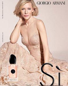 CateBlanchett for Giorgio Armani's Sì Rose Signature #AD