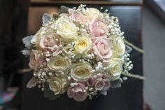Brides Bouquet - Sweet Avalanch Rose, Off White Avalanch, Gypsophilia & Senecio