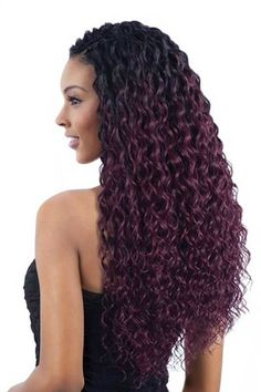 Enjoy a soft deep wave crochet braid style with the Freetress Synthetic Crochet Braiding Hair Super Italian Curl. It's very lightweight, placing less tension on your natural hair. Jumbo Box Braids, Long Box Braids, Box Braids Hairstyles, African Hairstyles, Black Hairstyles, Hairstyles 2016, Curly Hair Styles, Natural Hair Styles, Kinky Hair