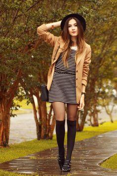 FashionCoolture - 02.12.2015 look du jour Slywear striped dress(1) l