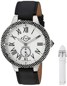 GV2 by Gevril Women's 9124 Astor Enamel Analog Display Quartz Black Watch * To view further, visit now (This is an amazon affiliate link. I may earn commission from it)