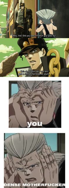 Jotaro, I know you're not kakyoin. . .but SERIOUSLY?