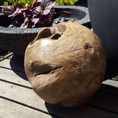 Solid Teak Ball - Stand Available Garden Accessories, Water Features, Natural Stones, Teak, Sculptures, Design, Water Sources, Backyard Ponds