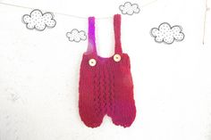 Hand knit baby overalls by ZucchiniIsland on Etsy
