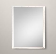 RH's Custom Metal Mirror Level:Our sleek metal frame has a clean finish and minimalist detail for a modern, live-anywhere sensibility.