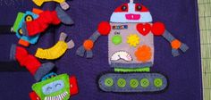 LED Robot Quiet Book Page, many original cute pages and tutorial
