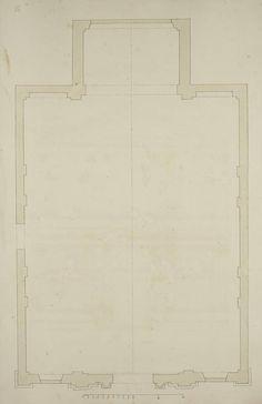 [Plan of the Chiesa dell'Abbazia della Misericordia, Venice]. King George, Venice, How To Plan