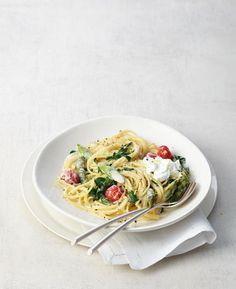 Spaghetti mit Brunnenkresse und Spargel Rezept - [ESSEN UND TRINKEN]