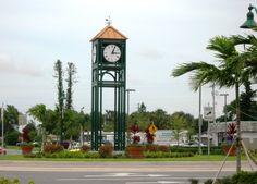 Clock tower near Margate city hall