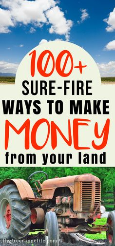 Over 100 legit ways to make money from home using your land or homestead and your homesteading skills.