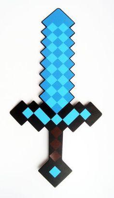 "Minecraft Iron épée en plastique 16/"" jeu de rôle Neuf Grand Cadeau MOJANG"