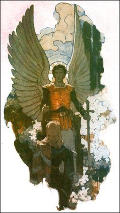 Striking image of Gabriel