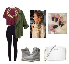 """""""Army"""" by gracieneland12 on Polyvore featuring Timberland, Madewell, Kenneth Jay Lane and Michael Kors"""