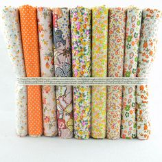 "50CMx50CM 9 Pieces ""Fresh Yellow Floral"" Cotton Fabric Fat Quarters Quilting scrapbooking Patchwork Fabric Tilda cloth"
