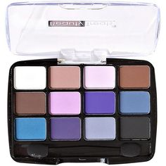 Beauty Treats 12 Color Matte Eyeshadow Palette found on Polyvore featuring beauty products, makeup, eye makeup, eyeshadow, multi and palette eyeshadow