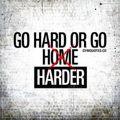 Go hard or go harder. There's no other alternative. #trainharder #nopainnogain #gymquotes #gymmotivation #gymaddict