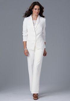 women's wedding suits | Women's Pant Suit by DVC Exclusive 15073 ...
